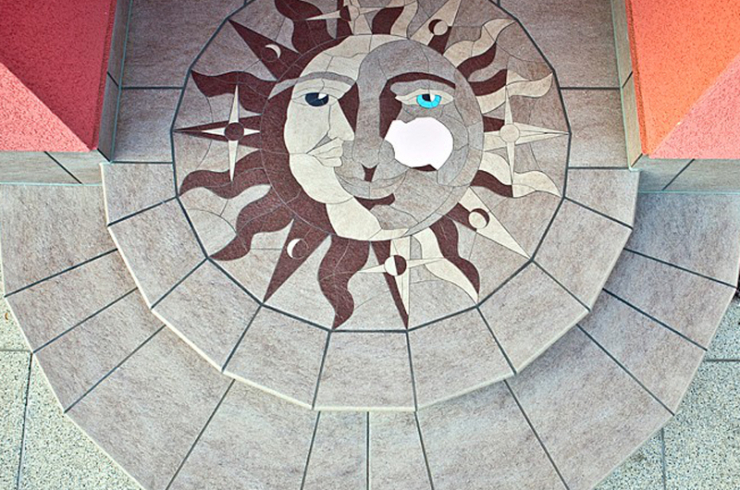 mozaika z dlažby