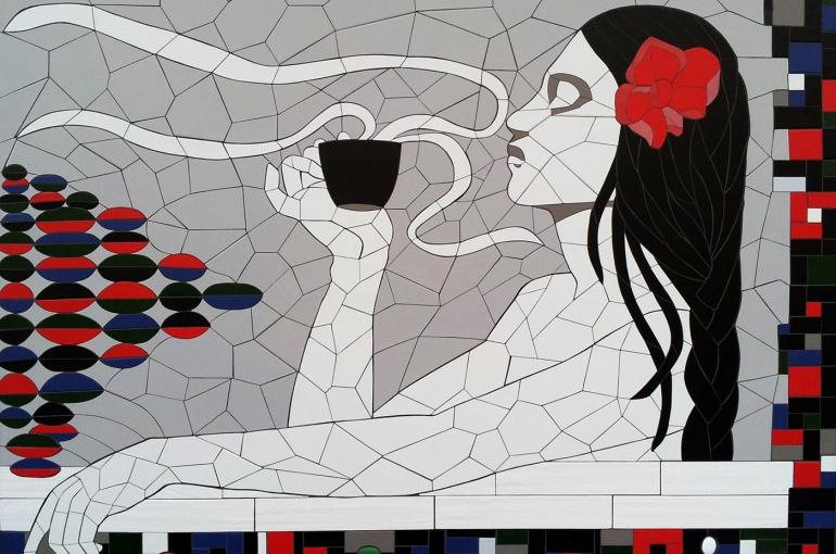 mozaika – vývěsní štít