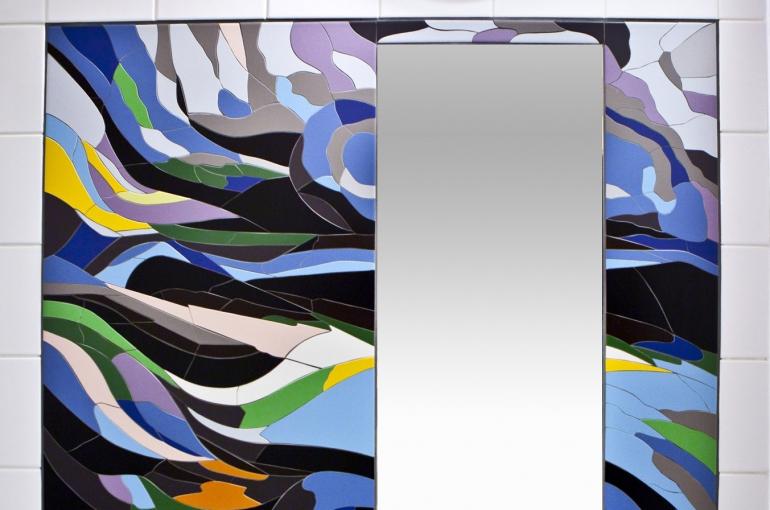 mozaikový zrcadlový rám