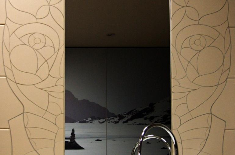 mozaika zrcadlový rám